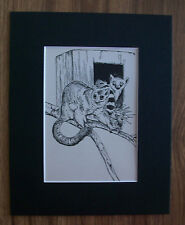 Lemurs Print Winifred Austen 1935 Animal Bookplate 8x10 Matted Adorable