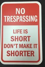 "No Trespassing Property Sign 12""x18"" 2mm PVC Signs"