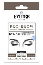 EYLURE PRO BROW BLACK DYBROW COLOUR TINT EYEBROW DYE KIT MASCARA.