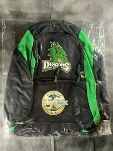 DAYTON DRAGONS LOGO BACKPACK MINOR LEAGUE BASEBALL OHIO KIDS CAMP SCHOOL GREEN