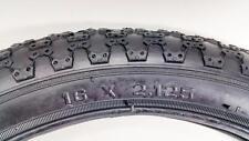 2 BMX Classic MX3 16x2.125 Black Tire Kids Vintage Fat Dirt Racing 16 x 2-1/8