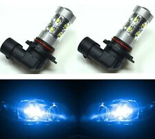 LED 50W 9012 HIR2 Blue 10000K Two Bulbs Head Light Replace Dual Beam Show