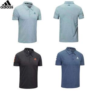 Adidas Mens Golf Polo Shirt Sportswear Collared Short Sleeved Tops