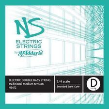 D'Addario NS Electric 3/4 Scale Medium Tension Single D String for Traditional B