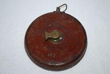 Vintage collectable 1918 Dean Bedington London leather cased tape measure in vgc