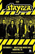 "STRYPER ""ISAIAH 53:5"" 2016 HOUSTON CONCERT TOUR POSTER - Christian Metal Music"
