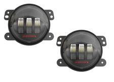 JW Speaker 6145 J2 Series 4 Inch LED Fog Lights in Black Jeep JK (PAIR)