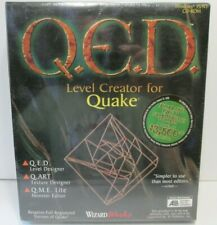 QED Level Creator For Quake PC, 1997 NEW Sealed Vtg Create game