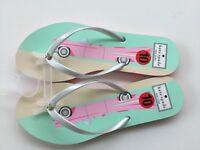 KATE SPADE 9-10 M Flip Flops Sandals-Nassau Pink Cadillac Car New w/o Box