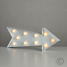 Modern Battery Operated Novelty Arrow Marquee Light 10 Warm White LED Lights