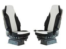 sur mesure pour Volvo FH 02-12 Premium Gris - tissu noir Housses siège