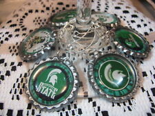"""1"""" Bottle Cap Image Wine Charms ~ Handcrafted  ~ **Gift Idea ~ Spartans"""