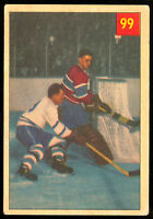 1954 55 PARKHURST HOCKEY 99 PLACID JACQUES PLANTE IA FOILS TIRELESS TEEDER VG-EX