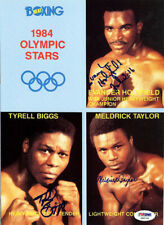 Holyfield, Biggs & Taylor Autographed Signed Magazine Page Photo PSA/DNA S48708