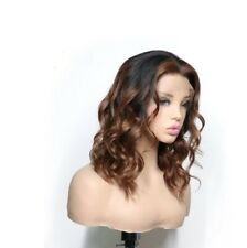 maintain and controlled curl bob brown 4 black human hair heartless curls wig