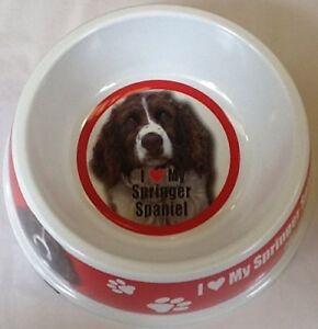 I LOVE MY DOG BIRTHDAY PRESENT  CHRISTMAS GIFT Food Water Bowl 30 BREEDS