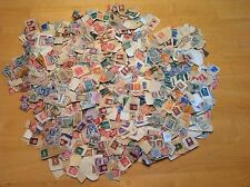 HUGE LOT Vintage Postmarked Used Stamps 1950's - World - OVER 1000 STAMPS!!