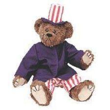 "Ty VINTAGE CLASSIC Samuel 13"" Plush Patriotic Bear"