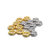 100pcs Gold Silver Plated Big Hole Spacer Beads Fit 5MM Leather Rope Bracelet