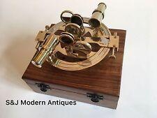 "Round Antique Brass Sextant Nautical Marine Vintage Navigation Sextants 6.5"""