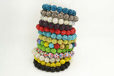 wholesale lots 10pcs Rhinestone crystal disco ball beads stretch bracelets FREE