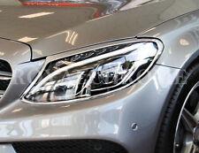 MERCEDES BENZ la nouvelle Classe C W205 Chrome Head Light Phare Enjoliveurs X 2 2014 sur