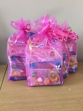 Girls Pink Pre Filled Birthday Party Bags- With Thank you Tag (minimum order 5)