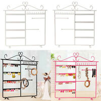 Jewelry Display Rack Earrings Necklace Ear Studs Metal Stand Organizer Holder