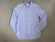 GAP - BLUE SHIRT WITH THIN WHITE STRIPES IN 100% COTTON - SIZE M