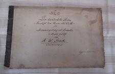 um 1867  handschriftliches Notenbuch m. TEXT  /  Komponist AUGUST WILHELM BACH