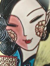 """Shanghai Girl Style Decorative Tile Tall Glazed 15"""" x 6"""""""
