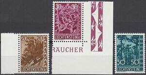 Liechtenstein Bäume 1960 Mi.Nr. 399-401 postfrisch Mi.Wert 42 € (6331)