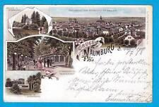 1101 ▶ AK Naumburg Saale Gruss aus Bürgergarten Pavillion Fontaine 1898