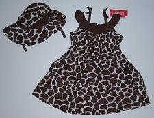 NWT Gymboree Safari Fashion 2T Giraffe Print Dress & Sun Hat