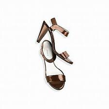 Theory  NIB $345 Metallic Patent Leather  Sandals   US 7.5