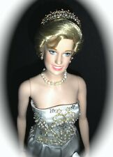 Franklin Mint PRINCESS DIANA DOLLL IN BEADED WHITE SATIN ROYAL PORTRAIT ENSEMBLE