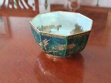 Lovely Wedgewood Fairy Lustre Octagonal Bowl Celestial Dragons 1920