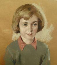 William  RA (1904-1990) SPECIALE SIGNATURE COPPIA PASTELLO Ritratto bambini