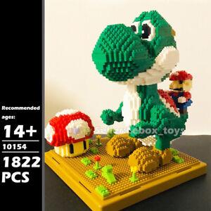 Building Blocks Super Mario Yoshi Scenes Diamond Micro Bricks Adult Kid DIY Toys