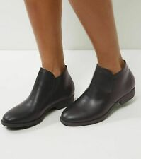 New Look Black Elasticated Low Ankle Boots Size 6 Brand New