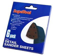 Paquete De 6 Almohadillas De Lijado Delta/detalle-Hook & Loop - 3 grados 90 X 88 Triángulo