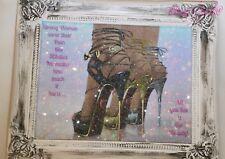Zapato DE LONA pared arte Foto Brillo Shabby Chic Marco:)