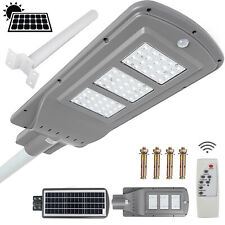 1100LM LED Solar Powered Street Light Outdoor Pole Mount Post Lamp IP65