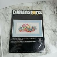 Vintage Dimensions Counted Cross Stitch Kit NEW Springtime Terrace Flower Floral