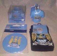 Man City Football Gift Set - Egg Cup, Keyring,Socks & Coaster Christmas Gift