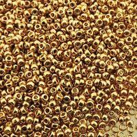 Miyuki Round Seed BeadsRocaille Size 15/0 Galvanized Gold 8.2g-Tube (15-182)