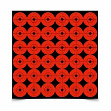 "Birchwood Casey Targets Target Spots 1"" Radiant Red 10 Sheet Self Adhesive 33901"