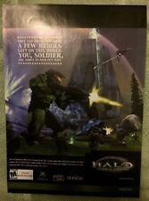 Halo Combat Evolved Poster Ad Print X-Box