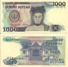 Indonesia P124a, 1000 Rupiah, Raja Sisingamangaraj / Water Castle, 1988, UNC