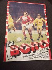 Middlesbrough V Leicester City 1989 Soccer/football Programme
